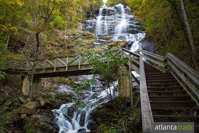 Hike the Amicalola Falls Loop Trail to the park's best mountain and waterfall views