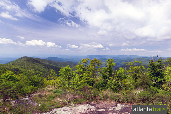 Hike the Appalachian Trail in Georgia to incredible views from Cowrock Mountain near Tesnatee Gap