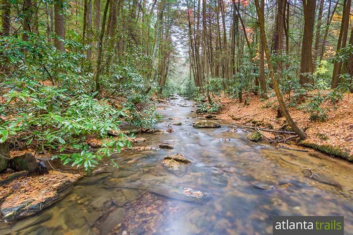 Hike through the lush, creek-filled Three Forks valley near Ellijay on the Appalachian Trail