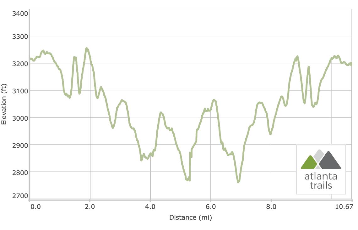 Appalachian Trail: Woody Gap to Ramrock Mountain Elevation Profile