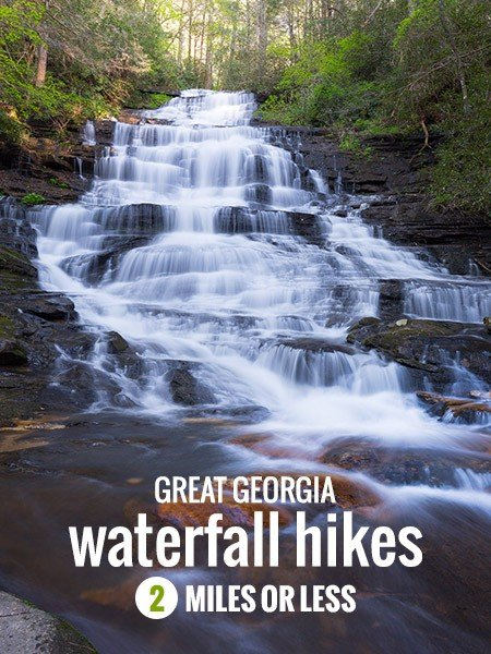 Georgia Waterfall Hikes, 2 Miles or Less