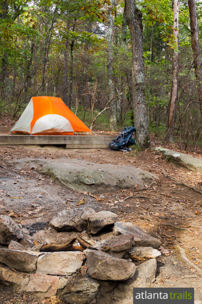 Camp at Cloudland Canyon's walk-in tent campsites in northwest Georgia, close to the park's best features