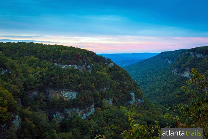 Camp at Cloudland Canyon State Park to catch stunning sunsets from the canyon's west rim