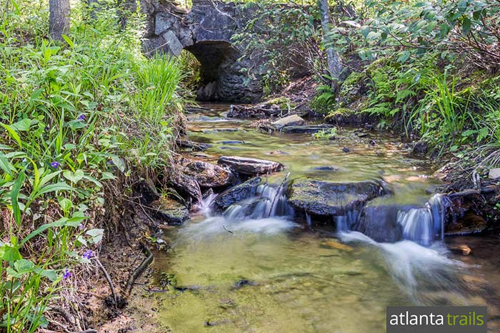 Hike the East Palisades Trail hikes through a scenic, shady forest on the banks of the Chattahoochee River in Atlanta