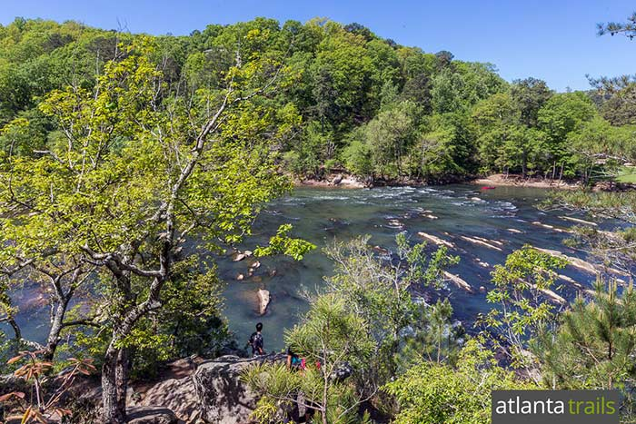 Hike the East Palisades Trail to gorgeous views from towering bluffs overlooking the Chattahoochee River