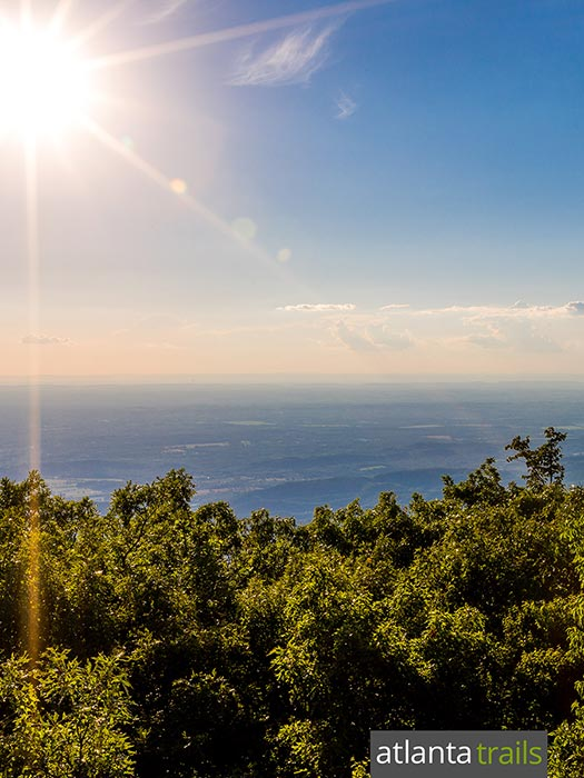 Hike the Grassy Mountain Tower Trail from Georgia's Lake Conasauga to a stunning mountain views in the Cohutta Wilderness