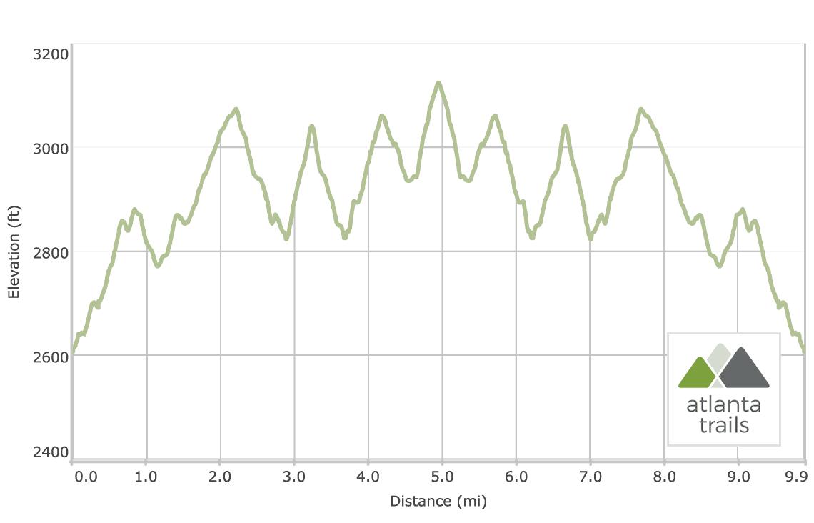 Hike Inn Trail - Elevation Profile