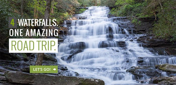 Georgia waterfall road trip: hike four falls at Lake Burton and Lake Rabun