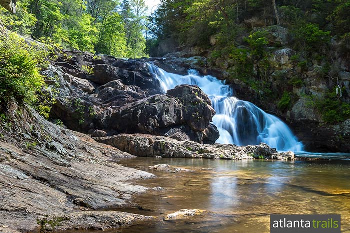 Jacks River Falls tumbles over a steep, rocky outcrop in the Cohutta Wilderness