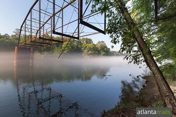 The Jones Bridge Trail hikes to the remnants of Jones Bridge