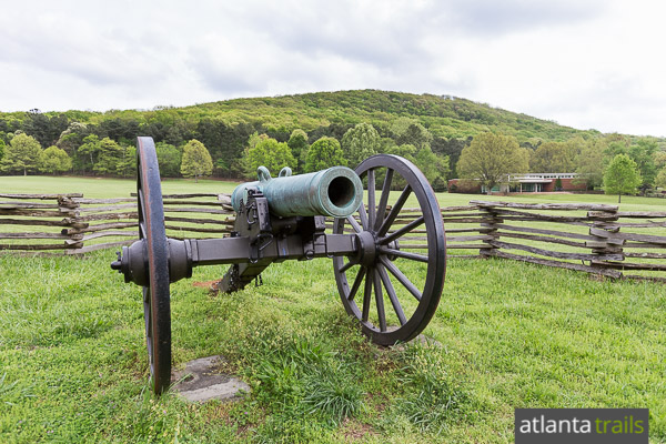 Hike or run the Kennesaw Mountain 24 Gun Trail through rolling forest to a fortified Union encampment