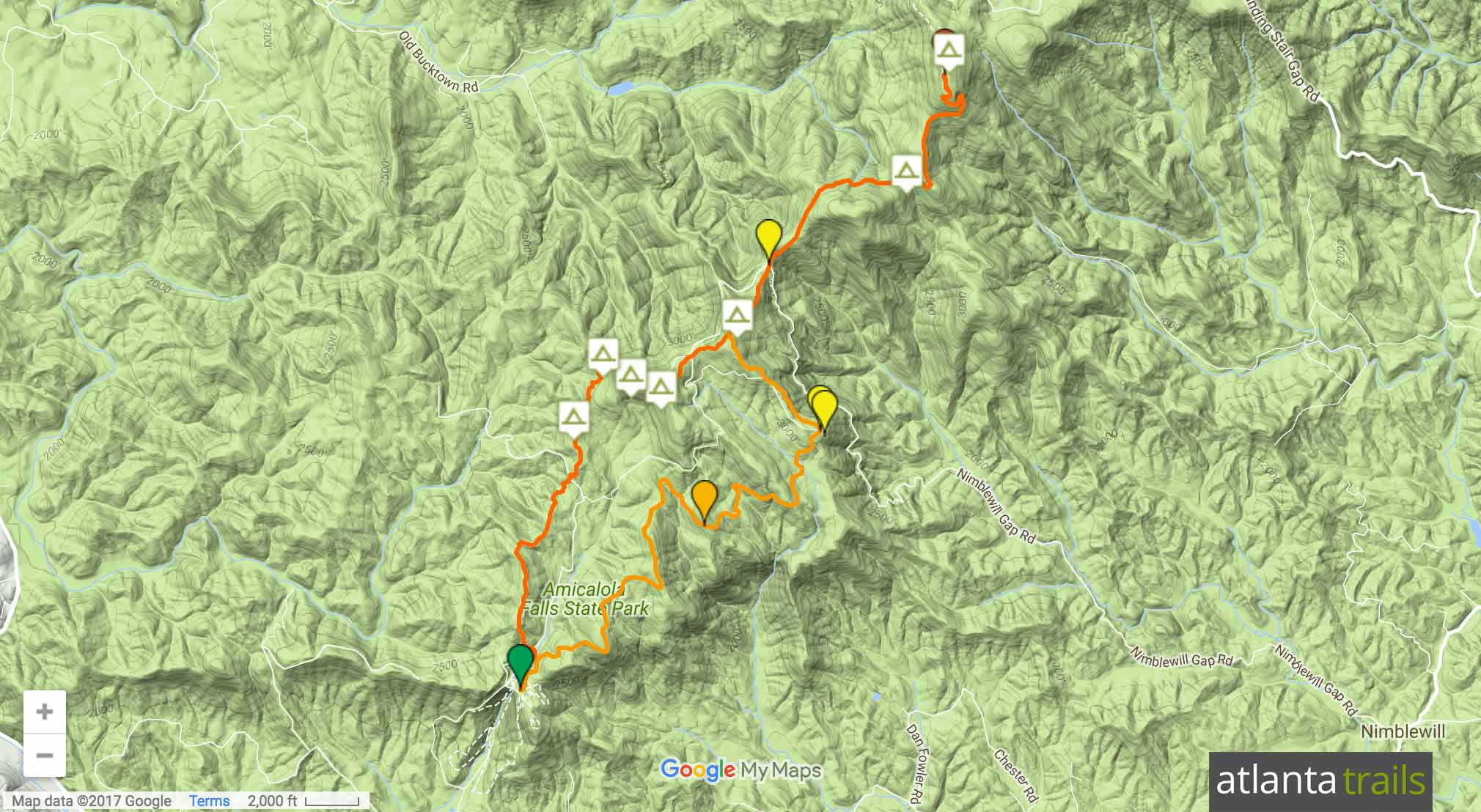 Appalachian Approach Trail (AT Approach Trail) Map