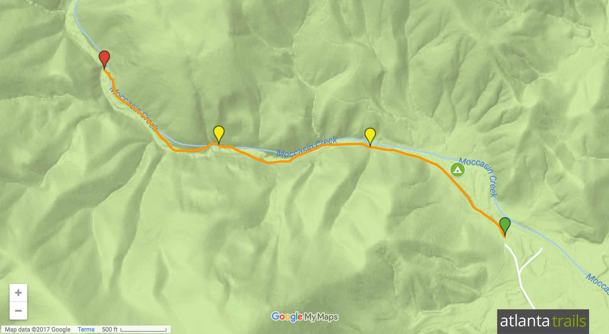 Lake Burton Hemlock Falls Trail Map