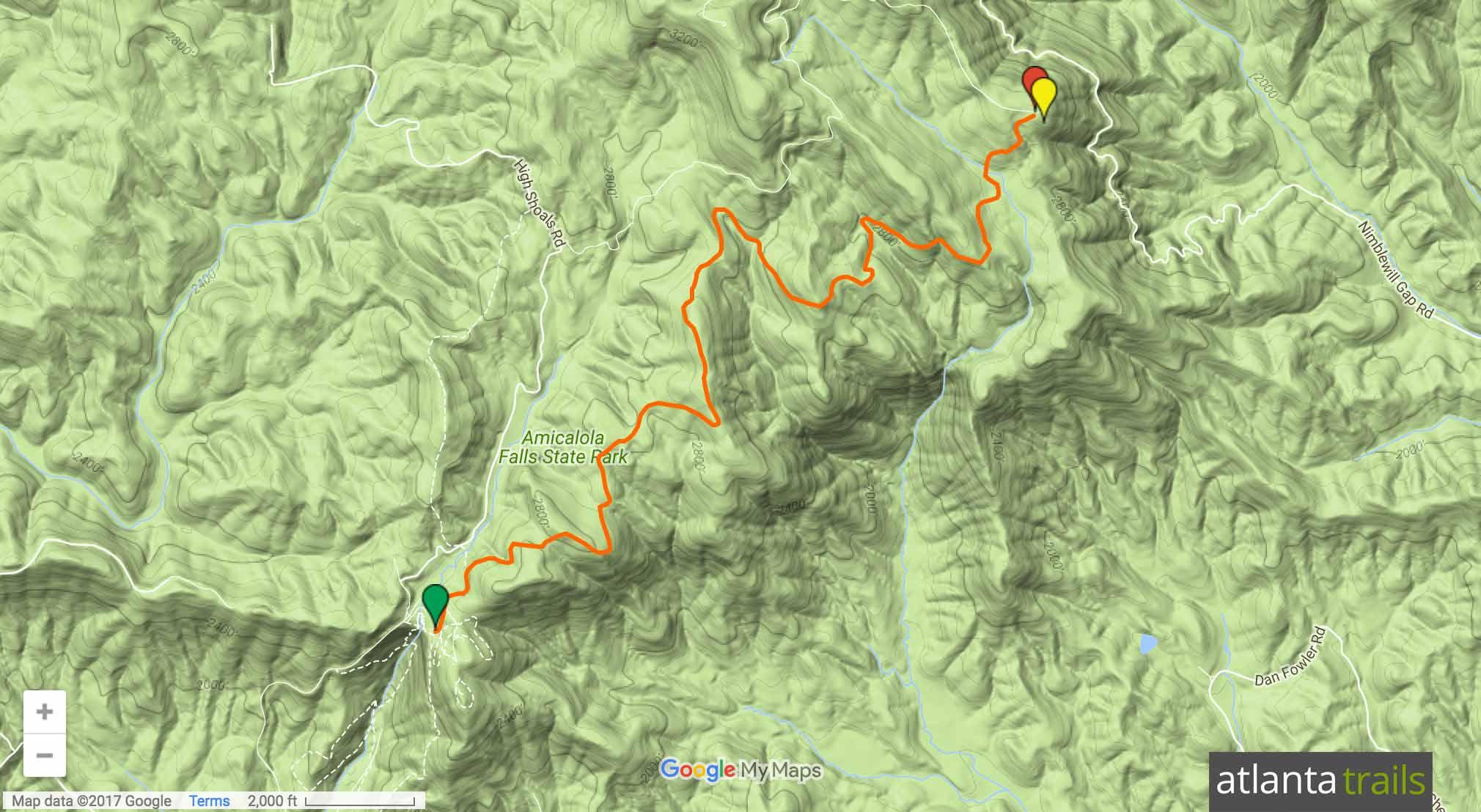 Len Foote Hike Inn Trail Map