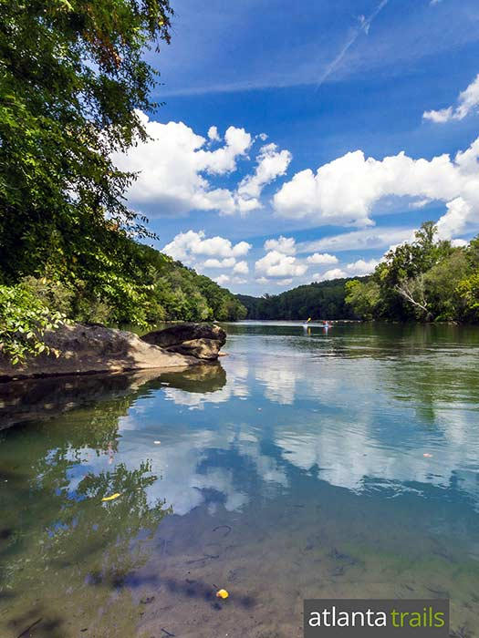 Run the West Palisades Trail at Paces Mill Park in Atlanta, exploring beautiful views of the Chattahoochee River