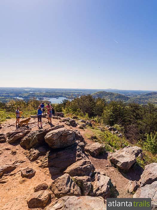 Hike the Pine Mountain Trail to gorgeous mountaintop vistas from the Pine Mountain summit near Cartersville near Atlanta