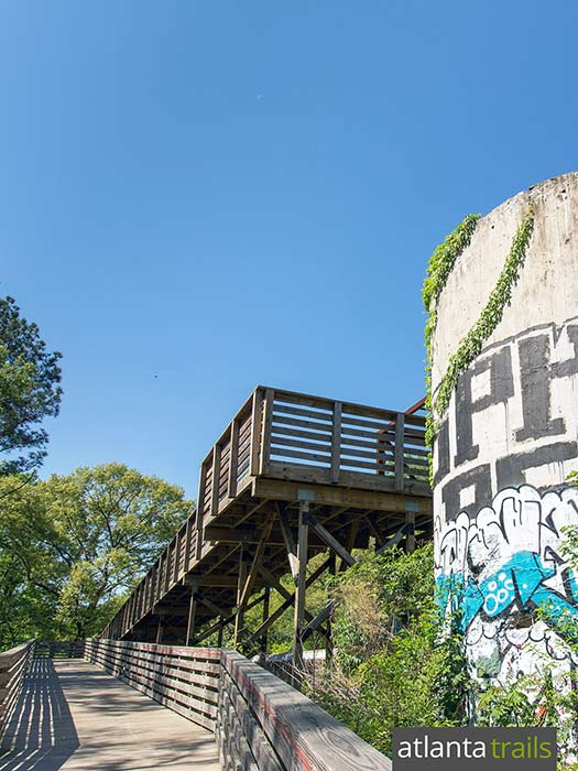 Run the South Peachtree Creek Trail to the Decatur Waterworks ruins at Mason Mill Park