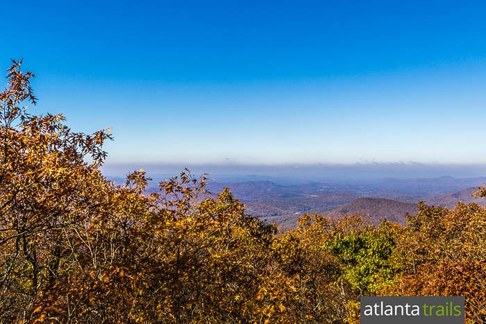 Hike the Springer Mountain Loop on the Appalachian Trail and Benton MacKaye Trail in North Georgia, catching summit views from multiple overlooks