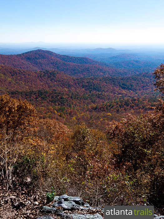 Hike a two-trail loop at Springer Mountain in North Georgia, catching stunning views from multiple summit overlooks on the BMT and AT