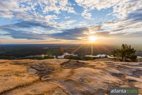 Hike Stone Mountain's trails near Atlanta, Georgia on the Cherokee and Walk Up Hiking Trails