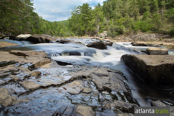 Hike this trail near Atlanta to Sweetwater Creek's waterfalls and whitewater
