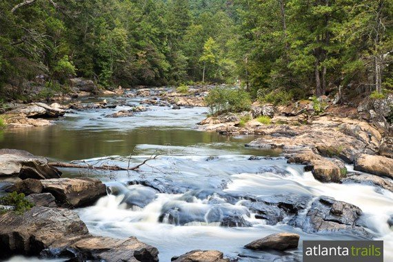 Sweetwater Creek State Park near Atlanta: Hiking the red trail