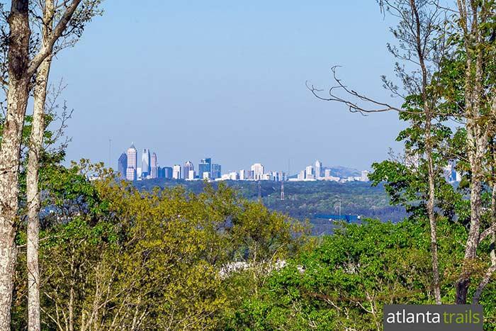 Hike the new Sweetwater Creek Orange Trail to views of the Atlanta skyline