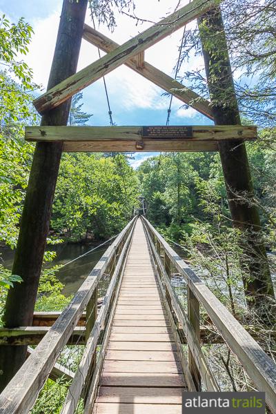 Hiking trails georgia swinging bridge are not