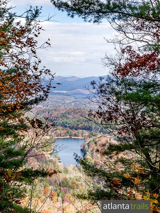Hike the Bear Hair Gap Trail at Vogel State Park to beautiful views of Lake Trahlyta