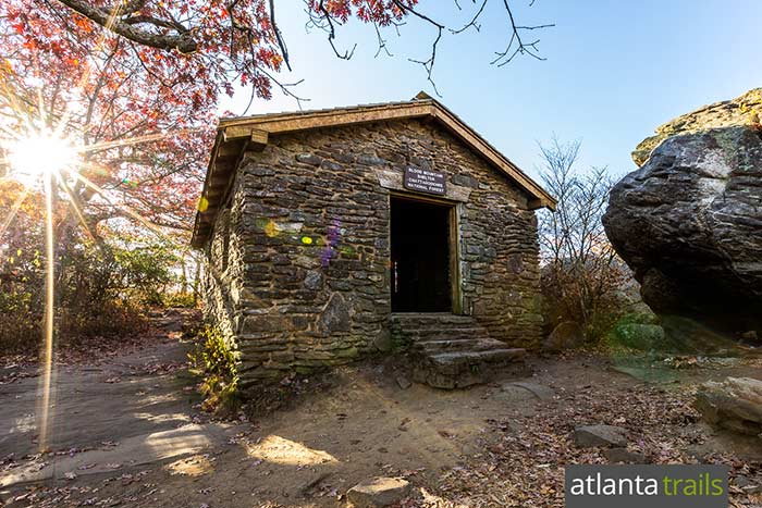 Hike the Appalachian Trail to the historic Blood Mountain AT Shelter in North Georgia