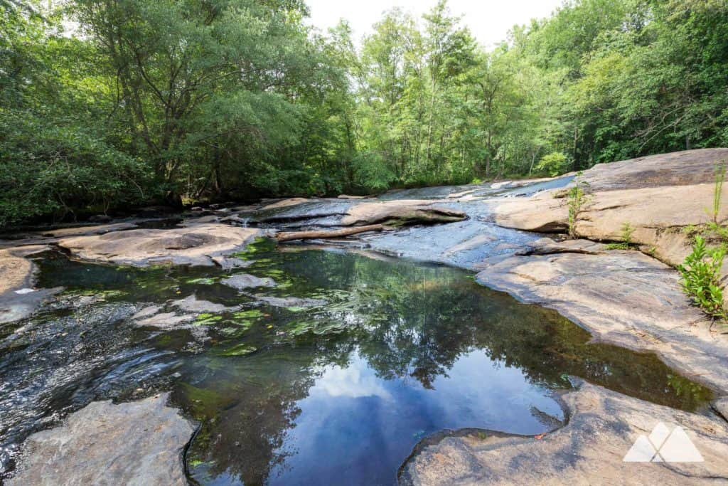 Hike the Arabia Mountain Cascade Trail to the tumbling, rocky cascades of Pole Bridge Creek