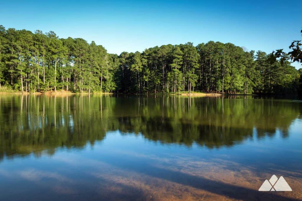 Hike the Lakeside Trail at Red Top Mountain State Park north of Atlanta, caching beautiful views on the Lake Allatoona shore