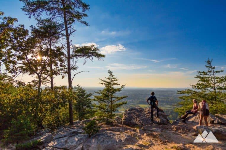 Hike the Indian Seats Trail at Sawnee Mountain Preserve to stunning summit views just north of Atlanta, GA