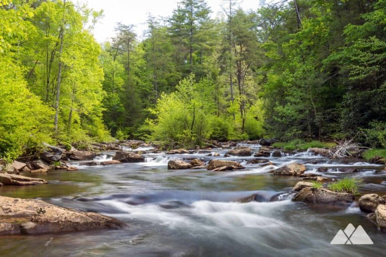 Hike the Beech Bottom Trail in Georgia's Cohutta Wilderness to the crystal-clear, waterfall-filled Jacks River
