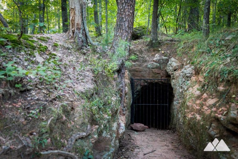Hike to an abandoned gold mine at the Sawnee Mountain Preserve just north of Atlanta