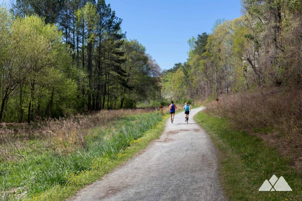 Run the 5k loop at Cochran Shoals Park on the banks of the Chattahoochee River, one of Atlanta's best running spots