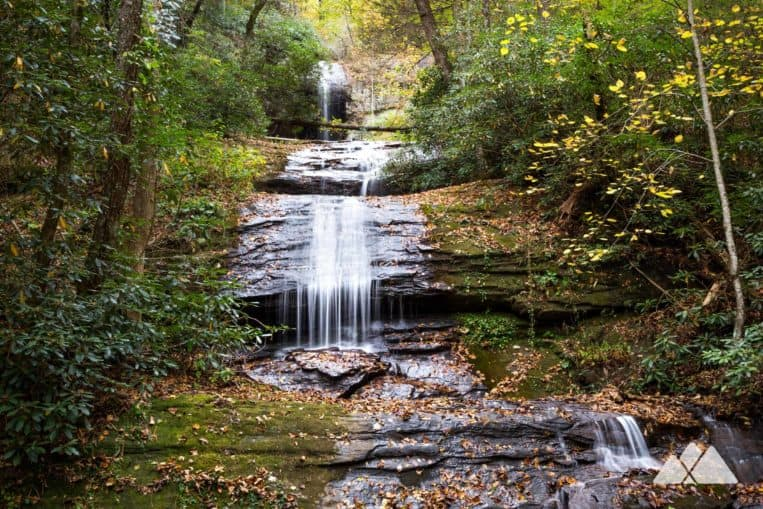 DeSoto Falls Trail: hike to a pair of beautiful, cascading waterfalls near Helen, GA