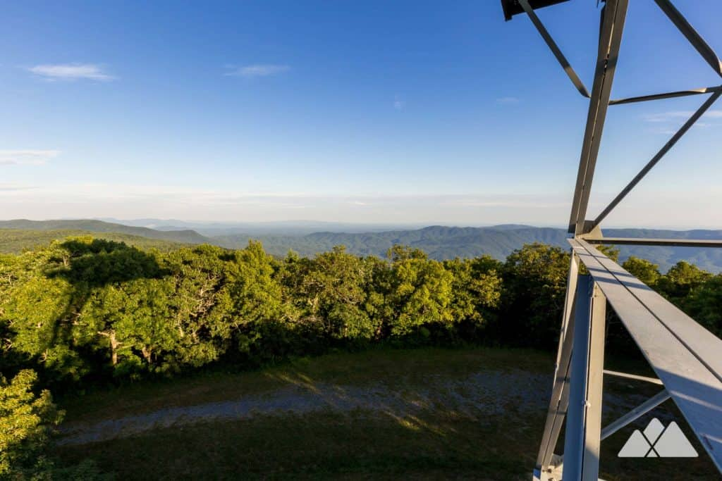Hike the Grassy Mountain Tower Trail to a historic steel fire tower in the Cohutta Wilderness near Lake Conasauga