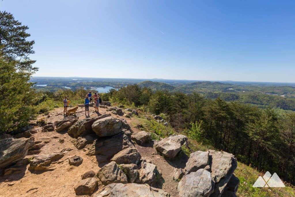 Top Atlanta fall hikes: catch beautiful autumn views of Allatoona Lake on the Pine Mountain Trail near Cartersville, GA