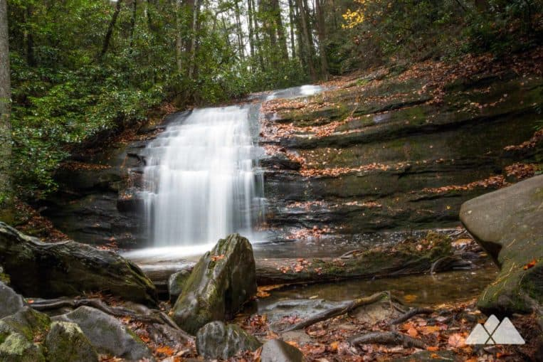 Hike the Appalachian Trail in Georgia, trekking from the beautiful Three Forks valley to Long Creek Falls, a gorgeous, multi-tiered waterfall