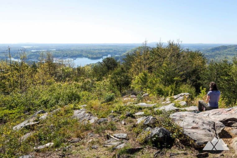 Hike to beautiful summit views of Allatoona Lake on the Pine Mountain Trail near Cartersville, GA