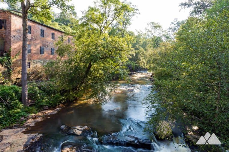 Roswell Mill: explore an enormous waterfall and covered bridge on Vickery Creek