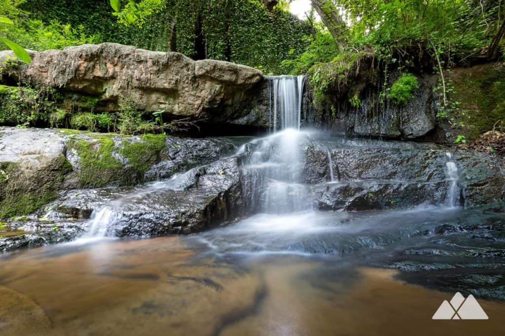 Hike Cascade Springs Nature Preserve in Atlanta to a tumbling waterfall