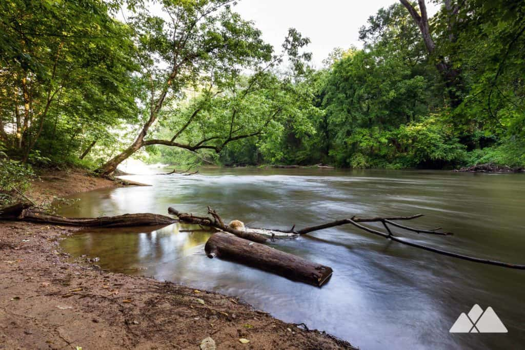 Hike the Powers Island Trail on the Chattahoochee River, exploring a historic river island in metro Atlanta