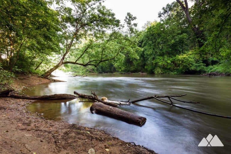 Powers Island Trail on the Chattahoochee River