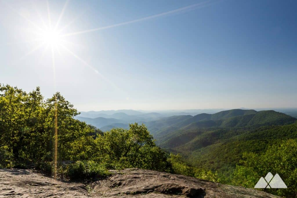 Hike the Appalachian Trail in North Georgia to these stunning summit views on Preachers Rock at  Big Cedar Mountain