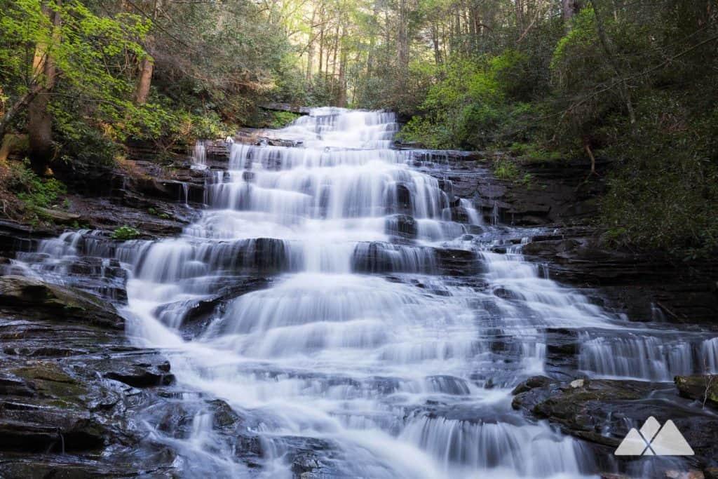 Georgia waterfall road trip stop #3: Minnehaha Falls on Lake Rabun
