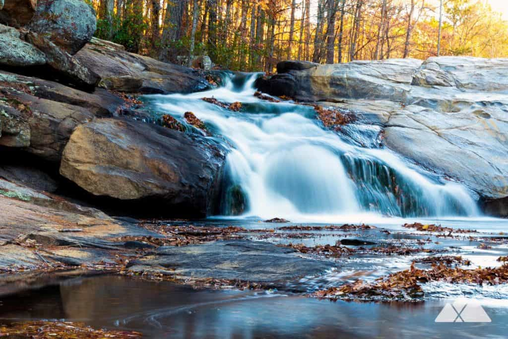 Top places to hike with dogs near Atlanta, Georgia: explore waterfalls at Cochran Mill Park on the Henry Mill Falls Trail