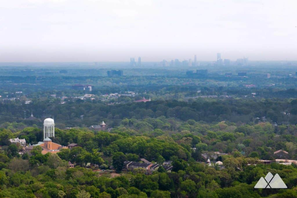 Hike an 11-mile loop on the Kennesaw Mountain Battlefield Trail to stunning views of the Atlanta skyline and through grassy Civil War battlefields