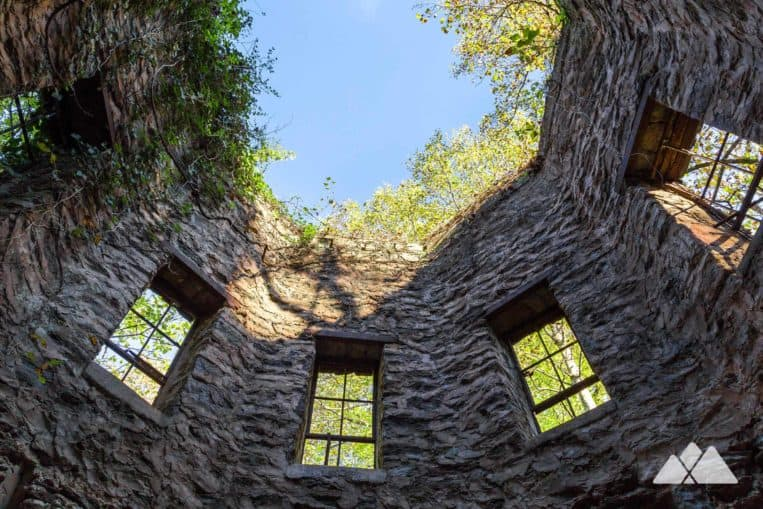 Lullwater Park at Emory University: hike or run to the ruins an octagonal, old stone powerhouse near a tumbling spillway waterfall